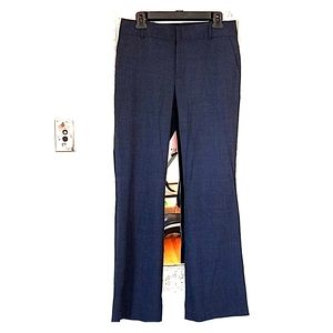 Banana Republic Martin wide leg dress pants 6 blue
